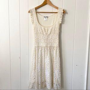 Adam Jones Paris cream lace dress